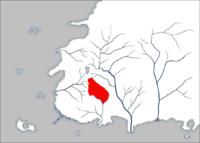 Umiejscowienie Ghealdan na mapie Westland