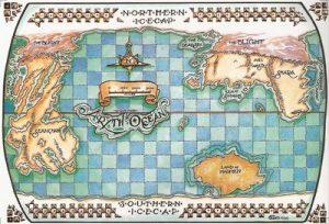 Umiejscowienie Ziemi Szaleńców na mapie Randlandu