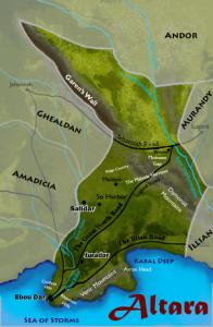 Mapa Altary
