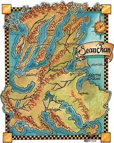 Topograficzna mapa Seanchan